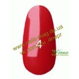 Гель лак Kodi №004 (классический, темно-красный цвет, эмаль), 8мл