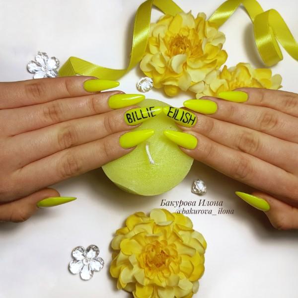 Сочный лимонный маникюр