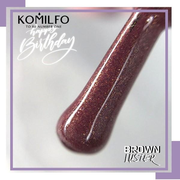 Ще раз покажемо Вам наш чарівний Гель-лак Komilfo Brown Luster!