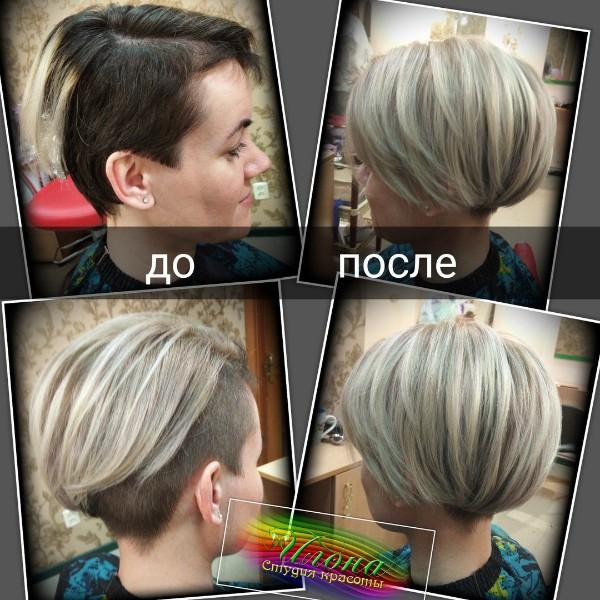 Работа ученицы Анастасии;)) Короткие волосы-не повод отказываться от крутых причесок;)