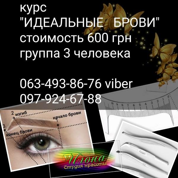 Курс Мастер бровист- 600 грн