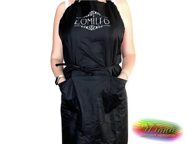Фартук Komilfo длинный, очень удобный, отлично защищает от пыли одежду мастера