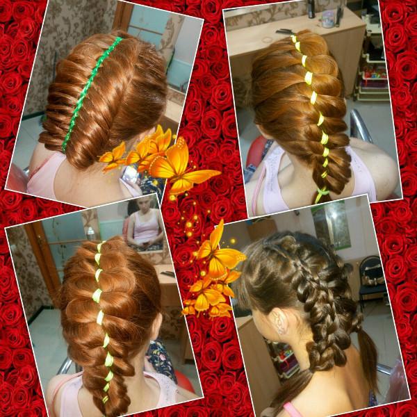 1-й день курса Современное плетение кос.