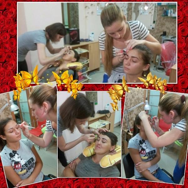 Работа Виктории и Катерины на курсе Идеальные брови