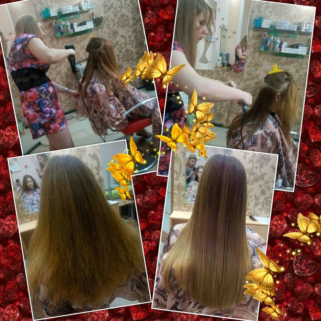 Мастер-класс Кератиновое выпрямление волос